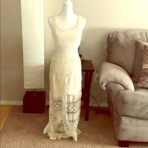 Cream Lace Maurices dress